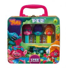 Pez Dispenser Trolls Gift Tin